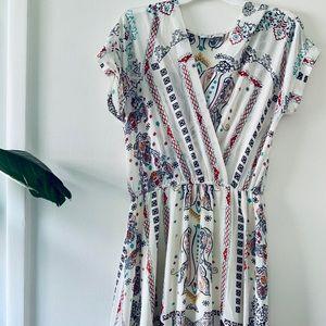 ✨🌸 NWOT Jenn Modern Print Sheer Maxi Dress